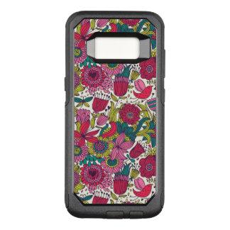 Bright floral pattern OtterBox commuter samsung galaxy s8 case