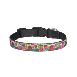 Bright floral pattern pet collar