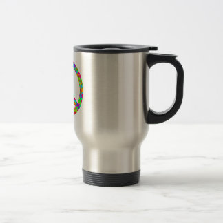 Bright Floral Peace Stainless Steel Travel Mug