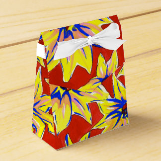 Bright Floral Pop Art Watercolour Favour Boxes