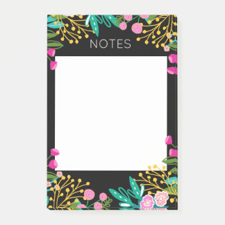 Bright Floral Post-it Notes