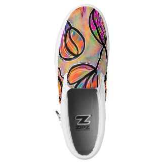 Bright Floral Slip on Shoes Printed Shoes