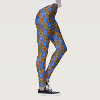 Bright Floral Sunflowers  Pattern Leggings
