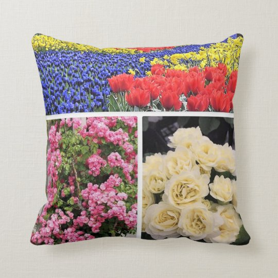 Bright Floral Throw Cushion 41 x 41 cm.