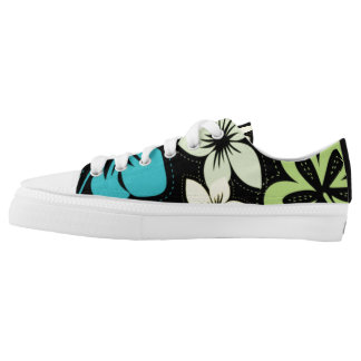 Bright Floral Tropical Hibiscus Hawaiian Luau shoe Printed Shoes