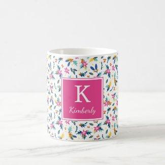 Bright Florals Personalised Mug