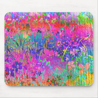 Bright Flower Garden Mouse Pad