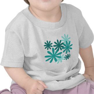 Bright Flower Pattern Tee Shirts