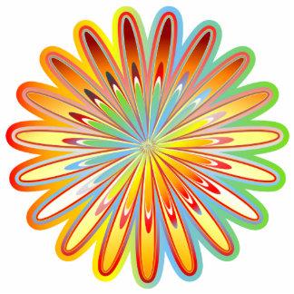 Bright Flower Photo Sculpture Badge