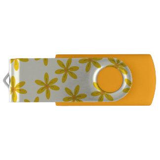 Bright Flower Yellow USB Swivel USB 3.0 Flash Drive