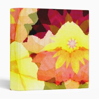"Bright Flowers 1"" Art Binder"