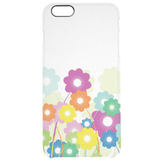 Bright Flowers Clear iPhone 6 Plus Case