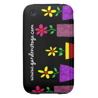 Bright Flowers in Pots - Illustration - Cell Case Tough iPhone 3 Case