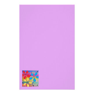 Bright Flowers Intertwined Stationery