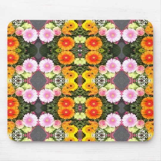 Bright Flowers Mouse Pad