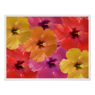 Bright flowers poster