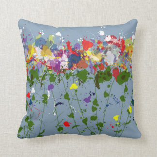 Bright Flowers Throw Pillow Cushions