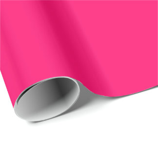 Bright Fluorescent Hot Pink Neon Wrapping Paper