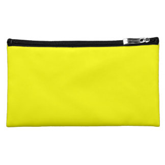 Bright Fluorescent Neon Yellow Makeup Bags
