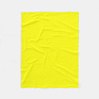 Bright Fluorescent Neon Yellow Fleece Blanket