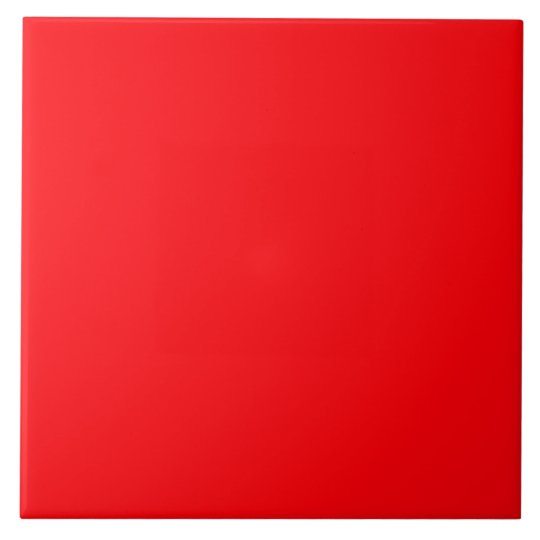 Bright Fluorescent Red Neon Tile