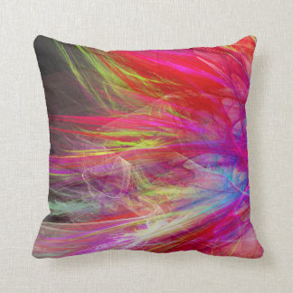 Bright fractal abstract design cushions
