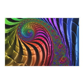 Bright fractal colours canvas
