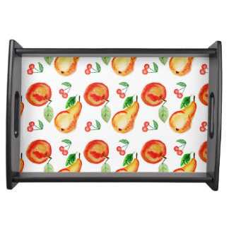 Bright fruit modern watercolor design serving tray