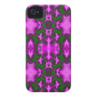 bright fuchsia pink green fractal abstract iPhone 4 Case-Mate case