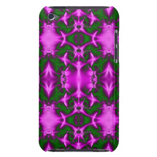 bright fuchsia pink green fractal abstract Case-Mate iPod touch case
