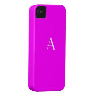 Bright Fuchsia Red Color iPhone4 Monogram Case Case-Mate iPhone 4 Cases