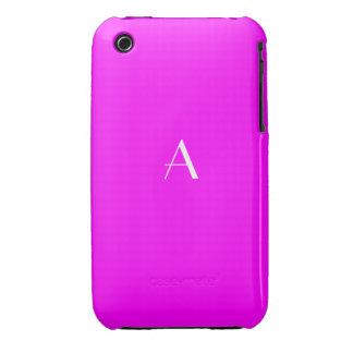 Bright Fuchsia Red iPhone 3G/3GS Cases w/ Monogram iPhone 3 Case-Mate Cases