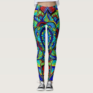 Bright Full Mandala Design Leggings
