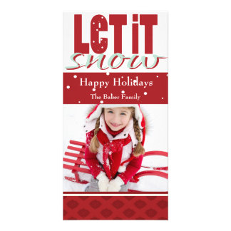 Bright Fun Customizable Holiday Card Picture Card