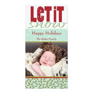 Bright Fun Customizable Holiday Card Photo Card Template