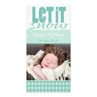 Bright Fun Customizable Holiday Card Personalized Photo Card