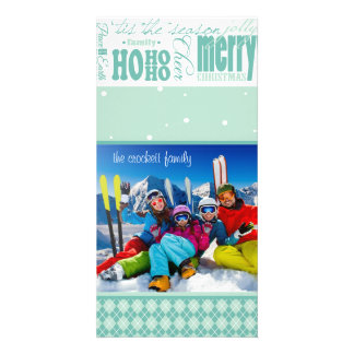 Bright Fun Customizable Holiday Photo Card
