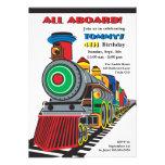 Bright Fun Kid Train Invitation
