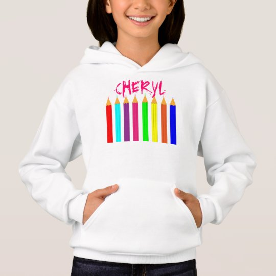 Bright Fun Rainbow Colouring Pencils Personalised
