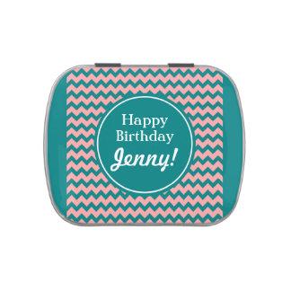 Bright Fun Retro Circles Customizable Jelly Belly Candy Tin