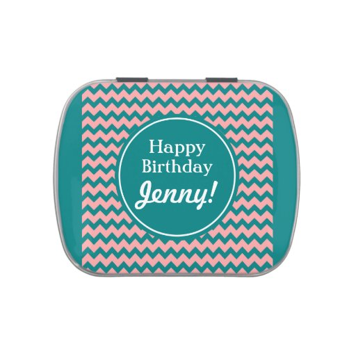 Bright & Fun Retro Circles (Customizable!) Jelly Belly Candy Tin