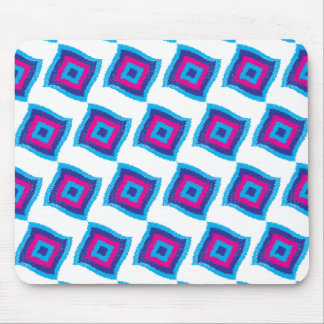 Bright Funky Geometric Diamond Scribble Pattern Mouse Pad