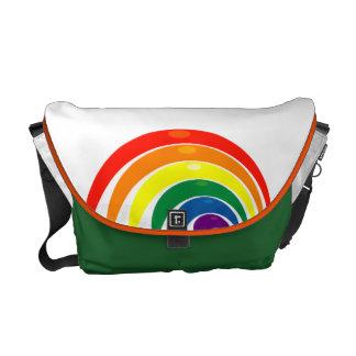 Bright Funky Rainbow Swirl Messenger Bags