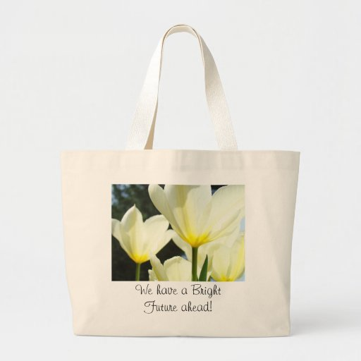 Bright Future ahead! Tote Bags Office gifts Tulips