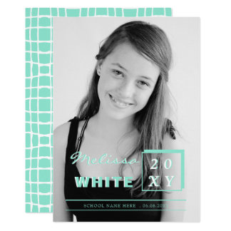 bright future mint graduation announcement