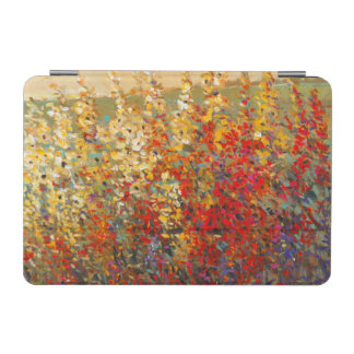 Bright Garden Mural of Spring Wildflowers iPad Mini Cover