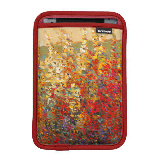 Bright Garden Mural of Spring Wildflowers iPad Mini Sleeve
