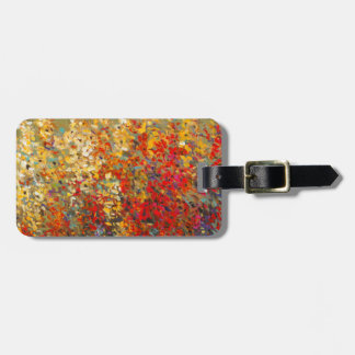Bright Garden Mural of Spring Wildflowers Luggage Tag