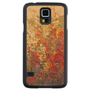 Bright Garden Mural of Spring Wildflowers Maple Galaxy S5 Case