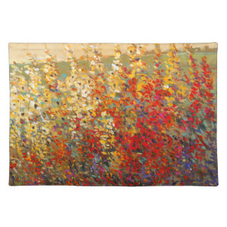Bright Garden Mural of Spring Wildflowers Placemat
